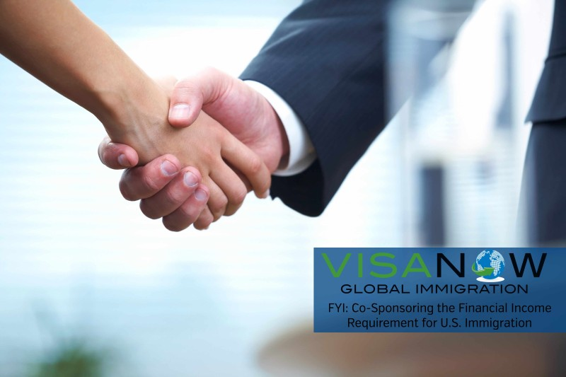 Financial Income Requirement Co- Sponsor for U.S Immigration
